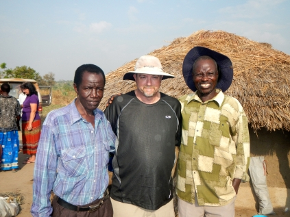 Pastor Stan pictured here with Pastor John Peter (left) and Pastor John (right) whose families were impacted by General Kony's raids.